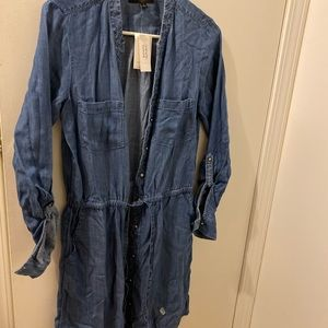 Woman denim dress